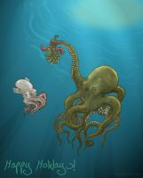 Cephalopod Holiday 2007 by NightmareCrow