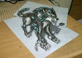 Fenrir - the Monstrous wolf by huxne123
