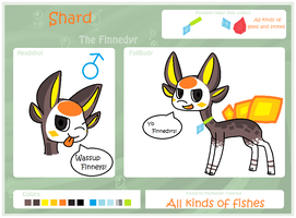Shard the Finnedyr Ref Sheet by CatGirl1324
