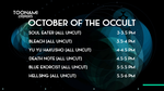 My Dream Toonami TNG October Occult Lineup by PeachLover94