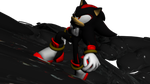 a little trip on a spaceship - shadow the hedgehog by DAINAMIX