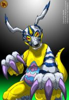 Gabumon collaboration by Lysozyme