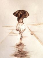 Girl in the rain by hieronymus83