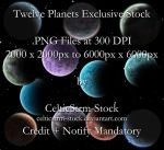 Planet PNG Pack by CelticStrm-Stock by CelticStrm-Stock
