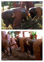Playmobil Canyon - Bison by The-Toy-Chest