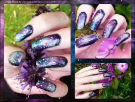 Galaxy Nails Closeups by soyoubeauty