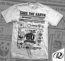 Earth Hour Infographic Tee by r4prolutions