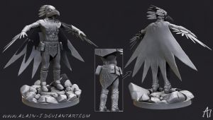 Mighty Raven Shaman High Poly Model by ALA1N-J