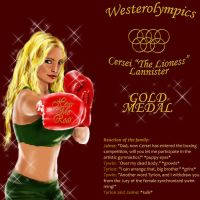 Cersei Boxing Gold Medal by guad