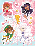 Stickers - Cardcaptor Sakura by elefluff