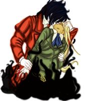 Alucard and Integral by Paintedemerald