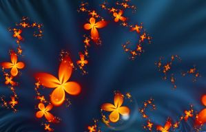 Fiery Butterflies by Annissina