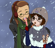 Couple Winter COLLAB Done X3 by ThebSayraduka