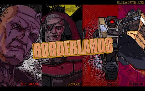 Borderlands v2 (Mr. Shank, Knoxx, Inack, Minack) by elizabethiron
