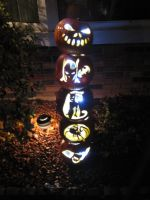 Pumpkin Totem Pole by TelevisionBox