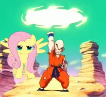 Krillin And Fluttershy Fighting Pose by DigiTeku