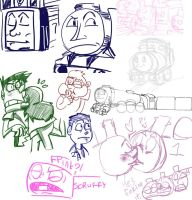 Doodle trains by RKPiratedrawer