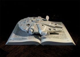 StarWars - The Millenium Faucon book sculpture by AnemyaPhotoCreations