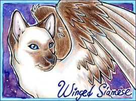 Badge Trade :: WingedSiamese by cybre