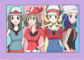 pokemon girls by bluemanaphy