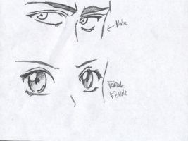 anime eyes or faces by mattwidder