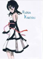 Bleach - Rukia Kuchiki - Prom Dress - Fan Art by Petchy-mon