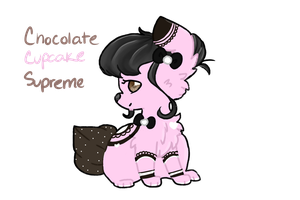 Chocolate Cupcake CandyCollie Auction (CLOSED) by StarryEdge