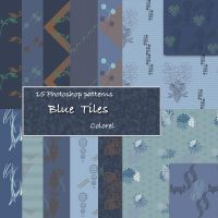 Blue tiles by libidules