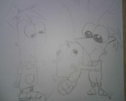 phineas ferb and perry by Tori9823