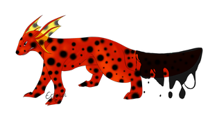 Reverse Fire-Spotted Salamander Slime Tailed Tamir by Lily-Mae13