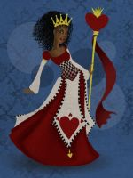 Queen of Hearts WIP by SilvaraDragon