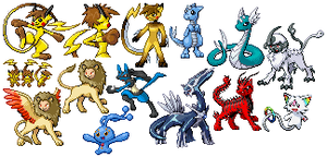 Scratched sprites by Ellucianne