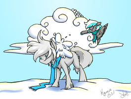 Collab - The Lord of Snowballs Strikes! by OmbraniWolf