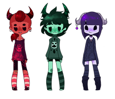 Longsleeved adoptables by Inky-Adopts