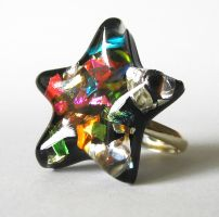 Sprinkle star ring by BazaarHereToday