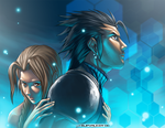 Kiriban Zack and Aerith by mangaholix