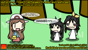 Walfas Prop - Leaf from Pokemon FRLG by AsyrafFile