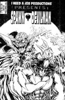 Spawn Devilman promo cvr by MonsterInk