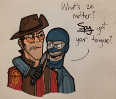 TF2 - Spy got your Tongue? by Beginneratart