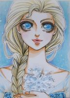 ACEO #2 - Elsa from Frozen by Dar-chan