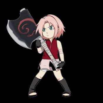 Sakura has an axe by gabzillaz