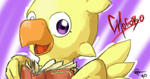 Chocobo and the book by Combo89