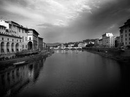 evening in Florence b and w by VaggelisFragiadakis