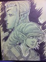 Legend of Zelda and Link by thejeremydale