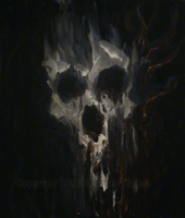 Old Skull Bleeding Fresh Blood by GrinningGhoul