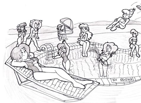 Pool Party by CDRudd