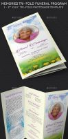 Memories Tri-fold Funeral Program Template by Godserv