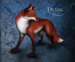 Demik - The Cloudwood Fox character by WolfScribe