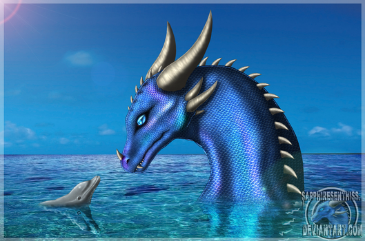 A Dragon and A Dolphin by Sapphiresenthiss