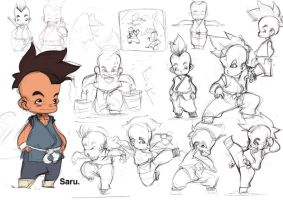 Saru Character Sheet by machinegunkicks